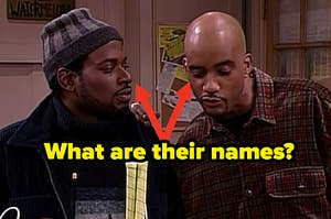 """John Henton as Overton """"Obie"""" Wakefield Jones and T.C. Carson as Kyle Barker in the show """"Living Single."""""""