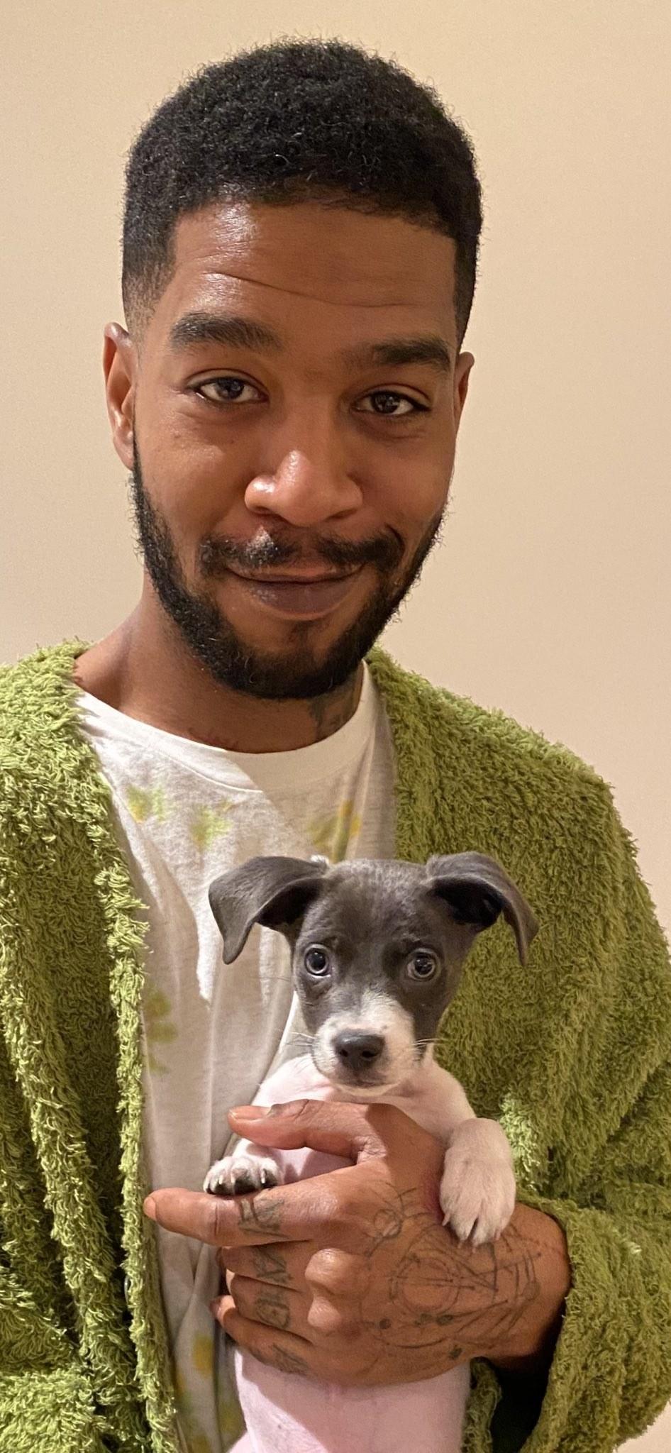 Kid Cudi and his dog