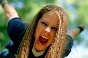 Avril Lavigne screaming