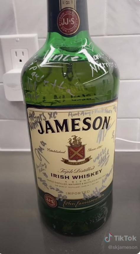 Jameson bottle of whiskey