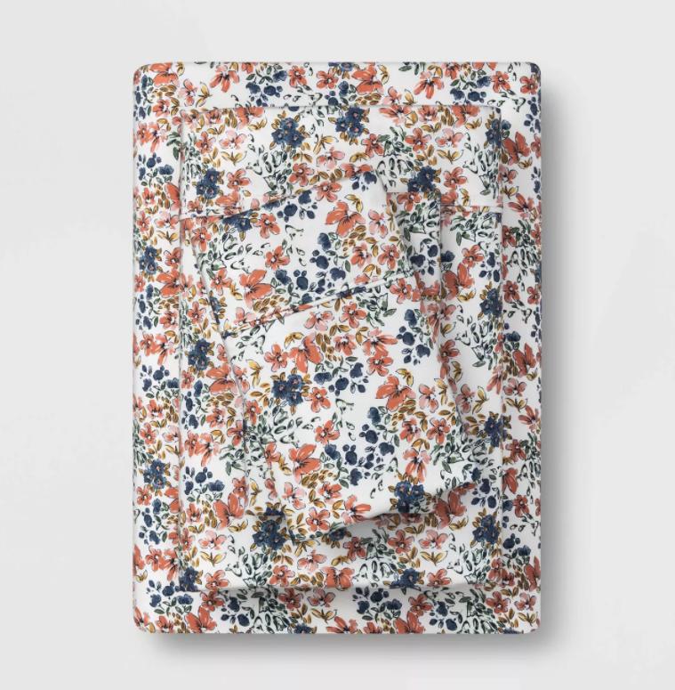 floral pattern sheet set
