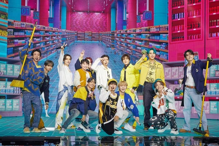 Seventeen performs at their online concert