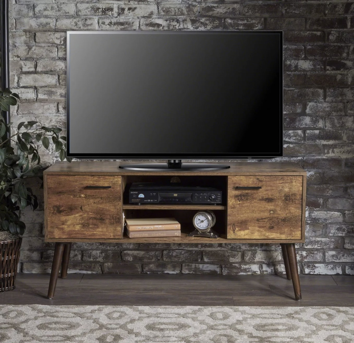 The wood entertainment stand