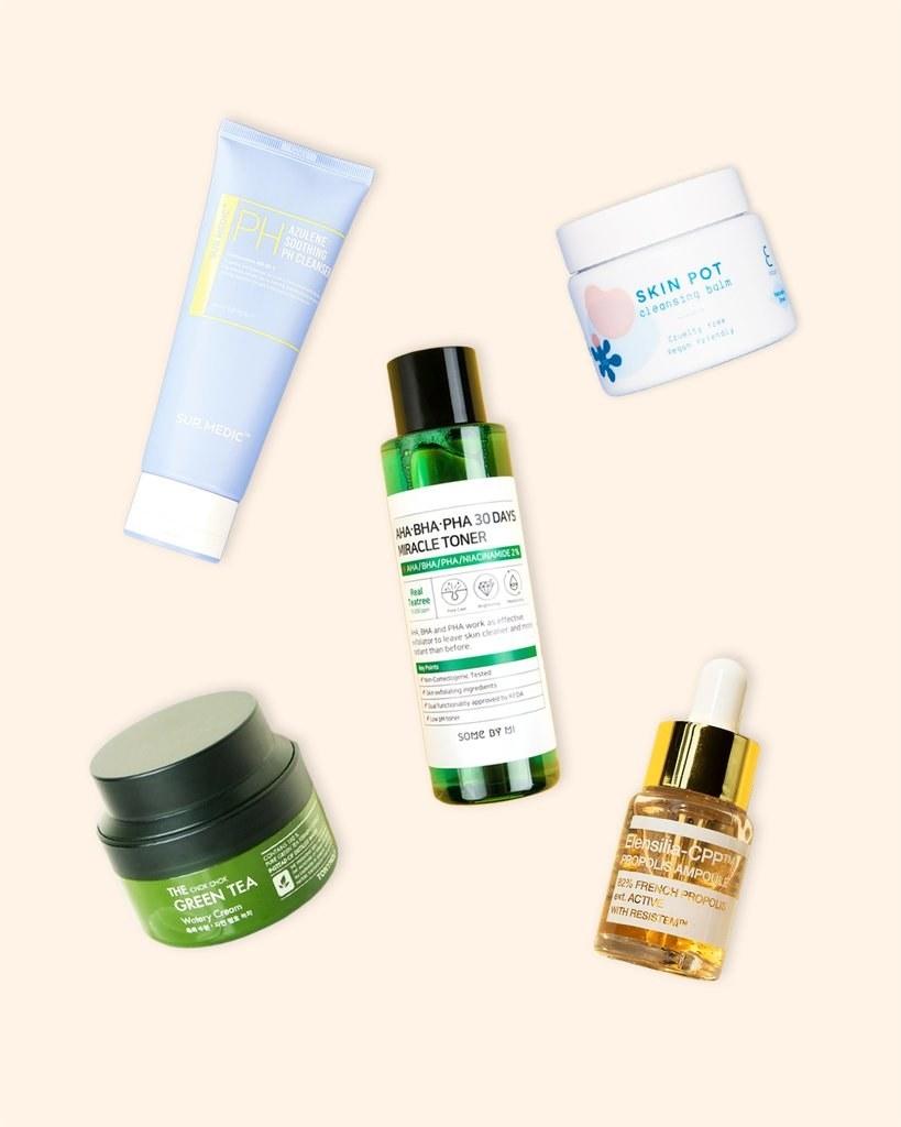 the Soko Glam Quick Starter Skincare set