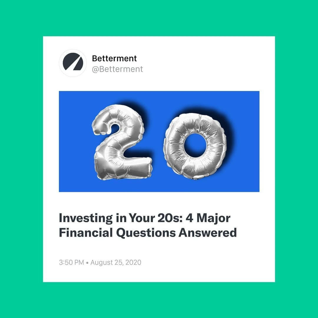 """""""Investing in your 20s: 4 major financial questions answered"""""""
