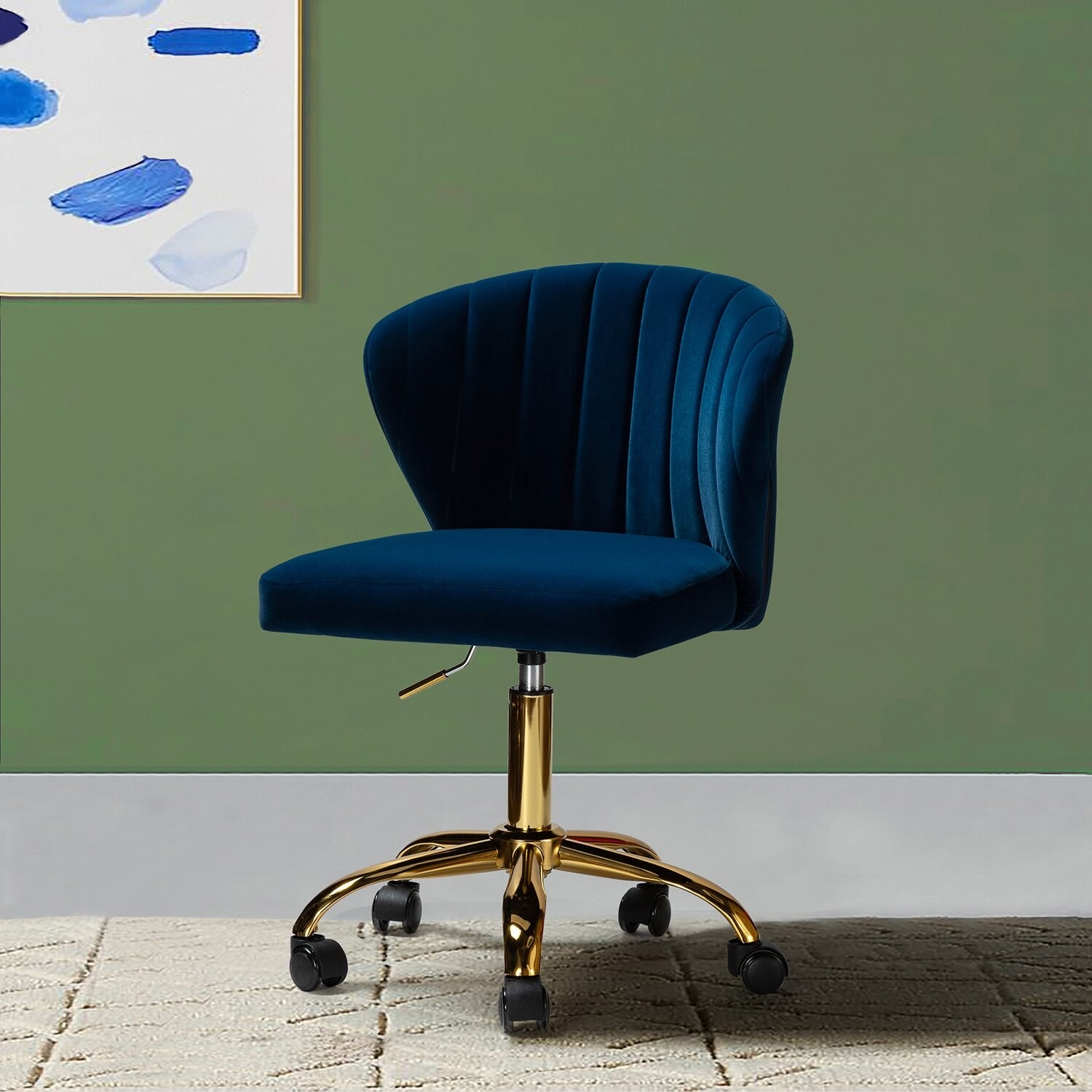 The chair in navy