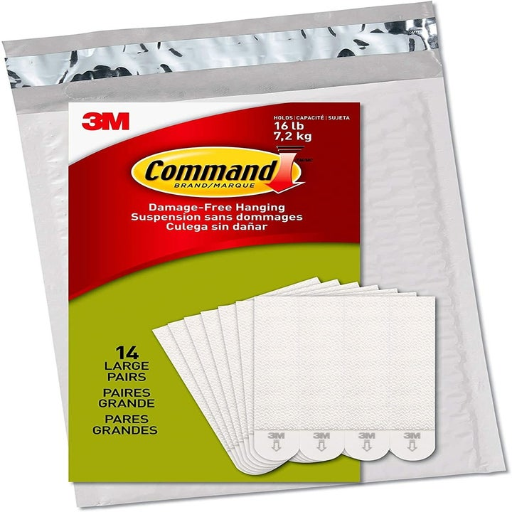 a pack of white command strips