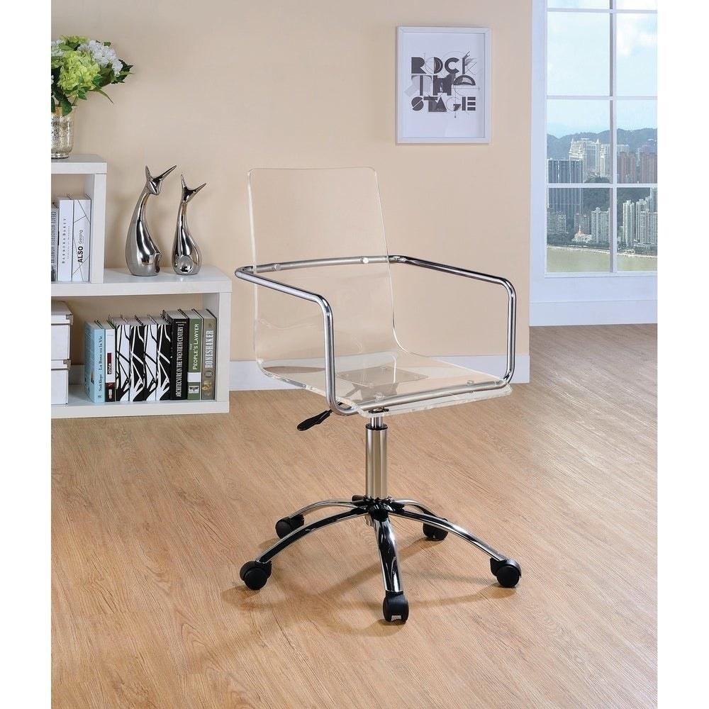 The acrylic swivel chair