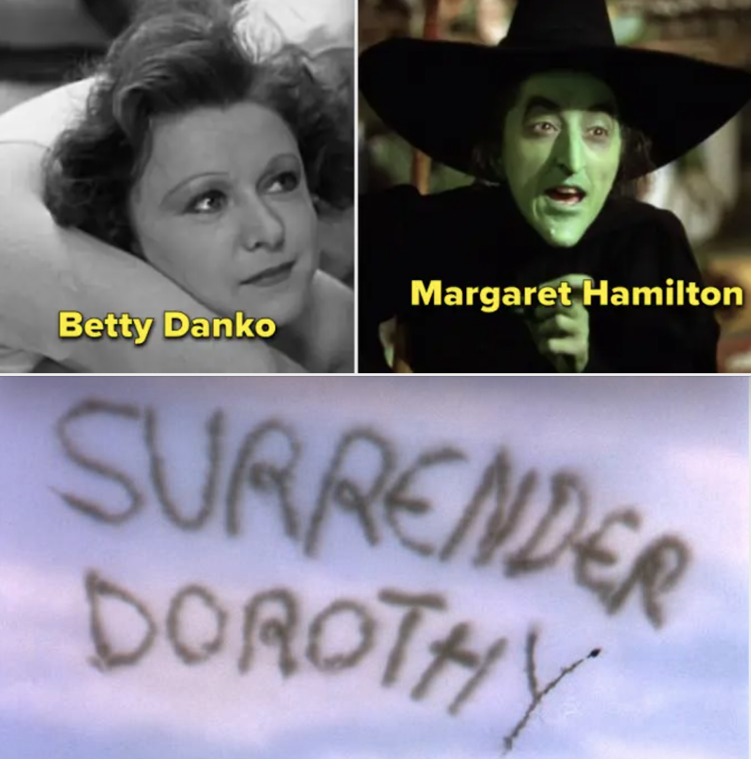 Betty Danko and Margaret Hamilton