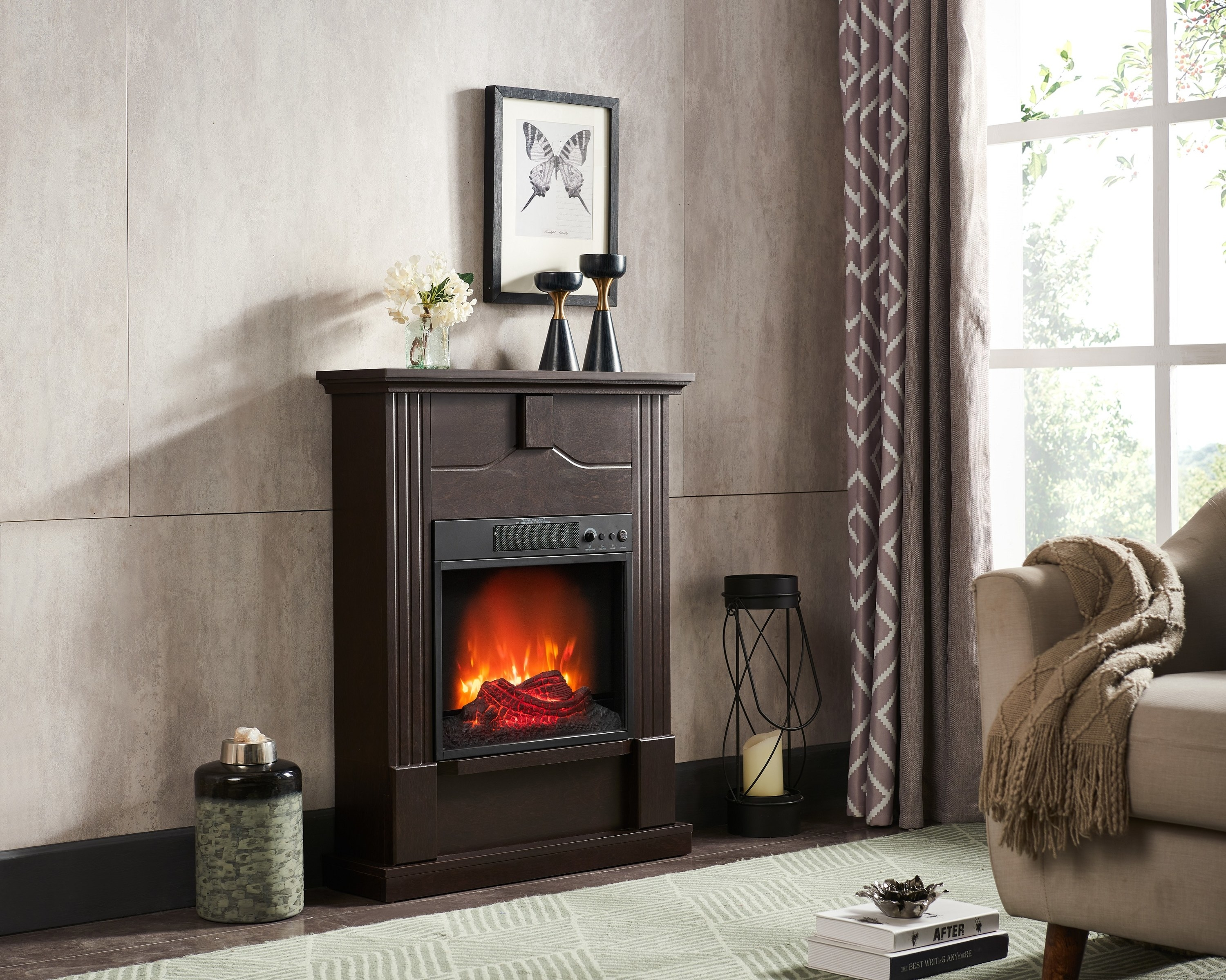 The electric fireplace heater