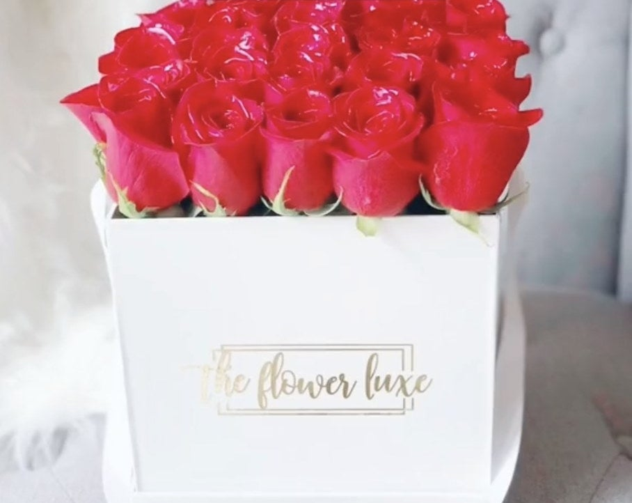 A box full of roses