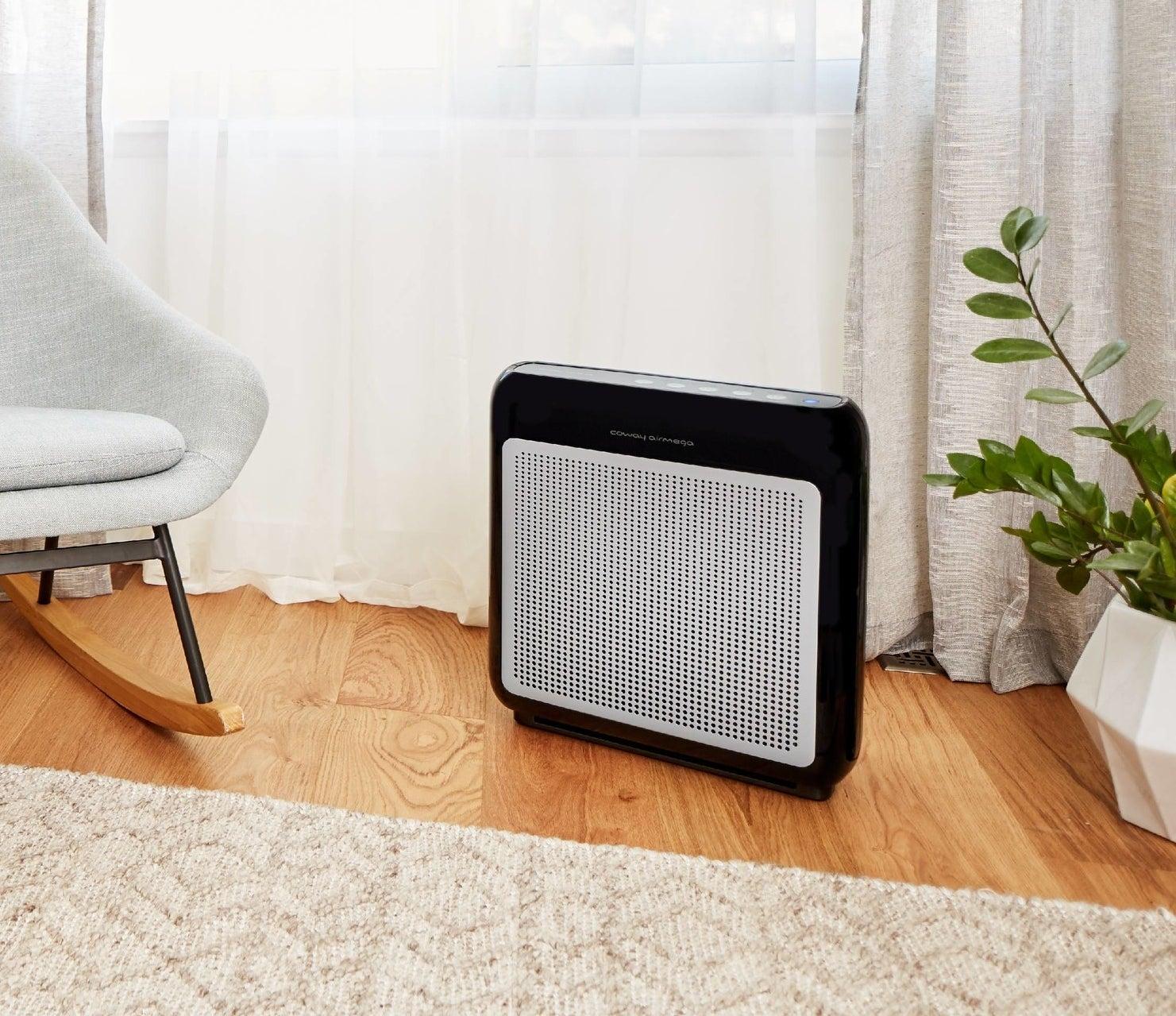 The black air purifier