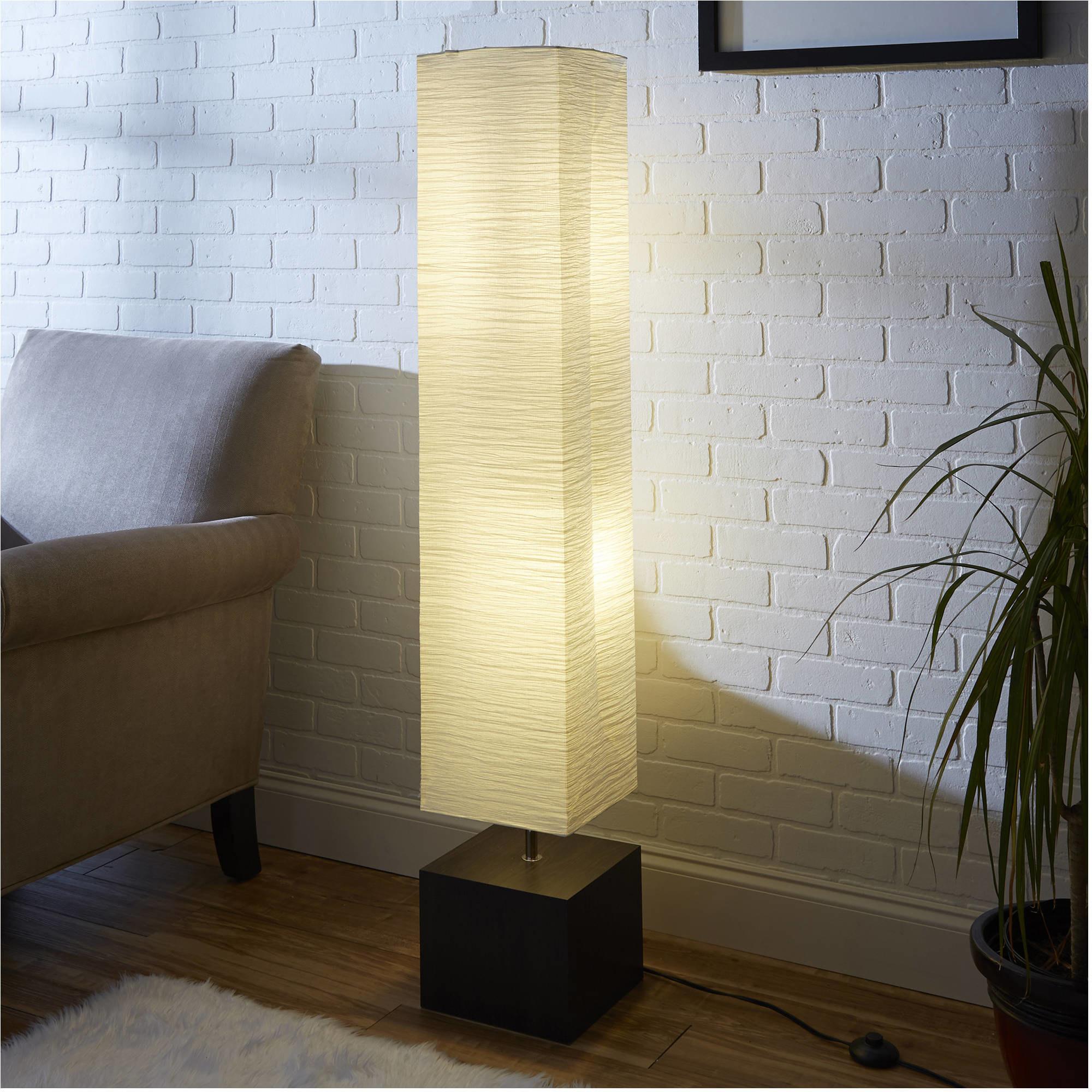 The floor lamp