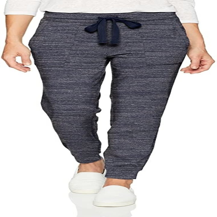 A model wearing the joggers in blue