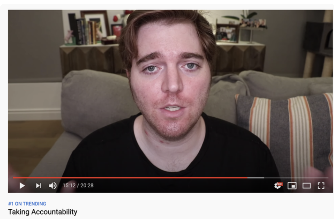 Shane Dawson's Taking Accountability video