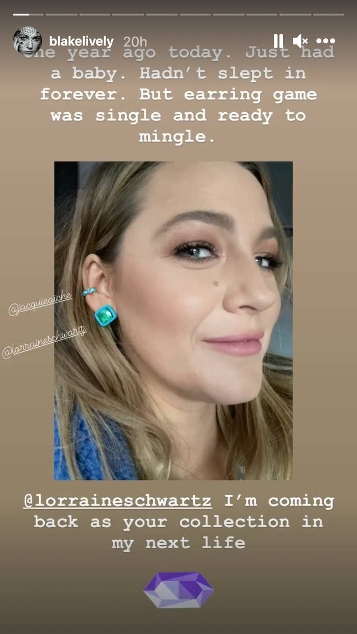 Blake Lively's Instagram story about doing press after having a baby last year
