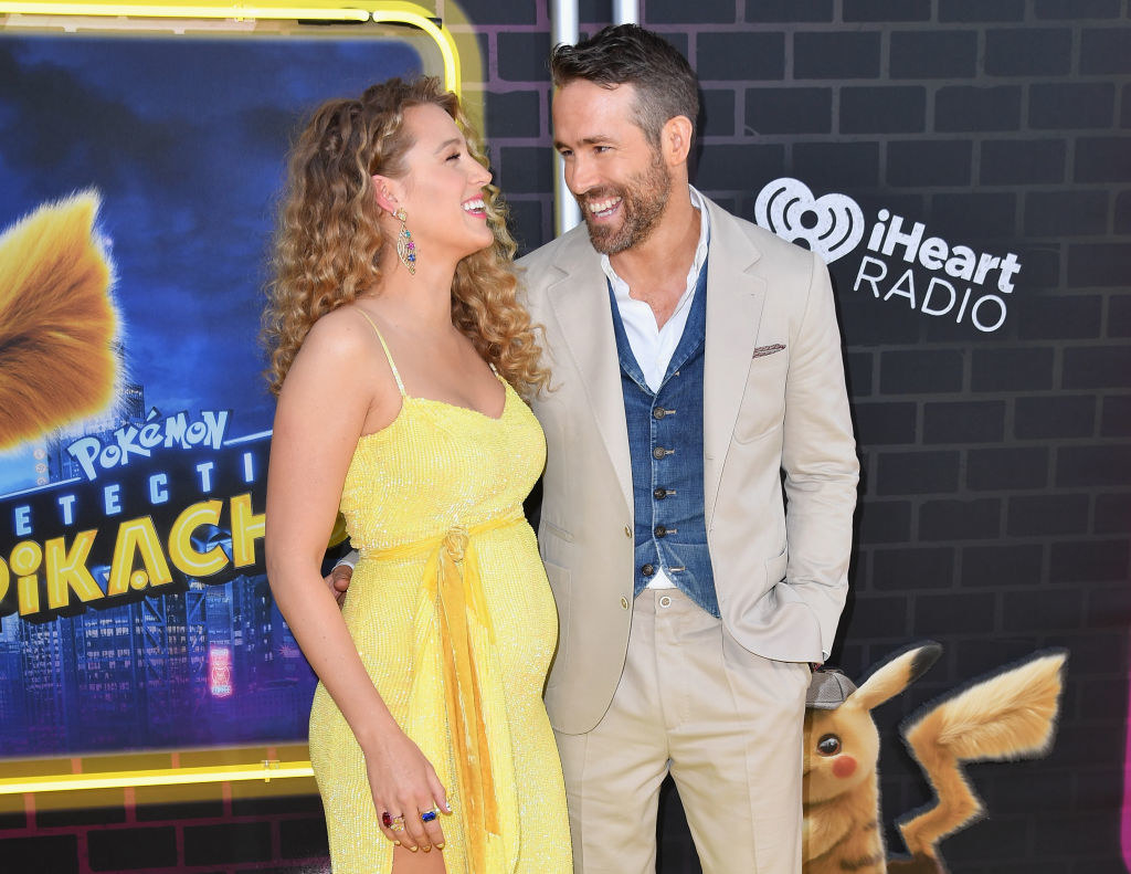 Blake and husband Ryan Reynolds at the Detective Pikachu premiere