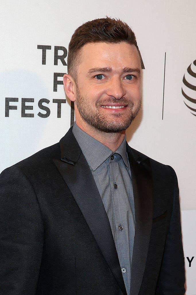Justin Timberlake smiling at Tribeca Film Festival