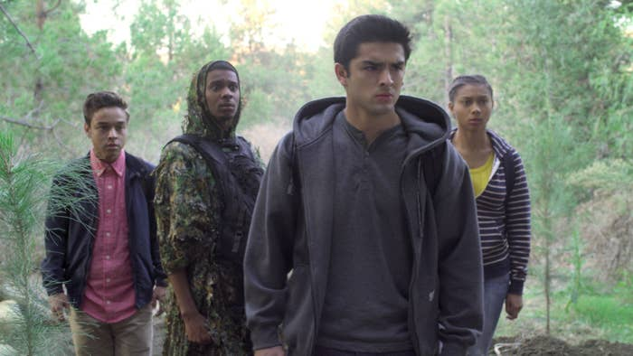 The cast of On My Block looking pensive
