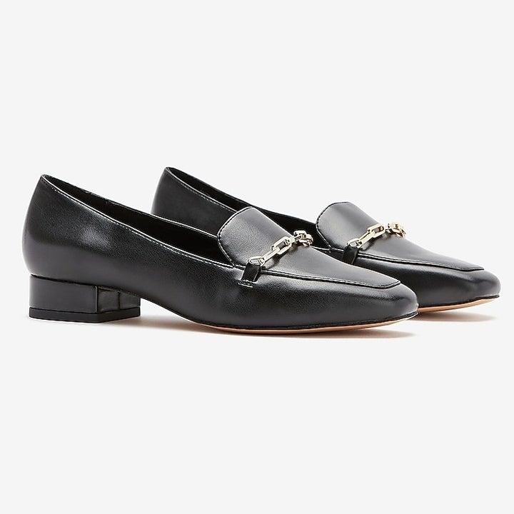 black square toe shoes