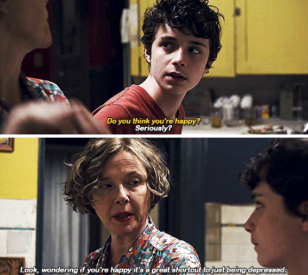 """Dorothea talking to her son in the kitchen in """"20th Century Women"""""""