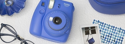 Instax Instant camera in blue