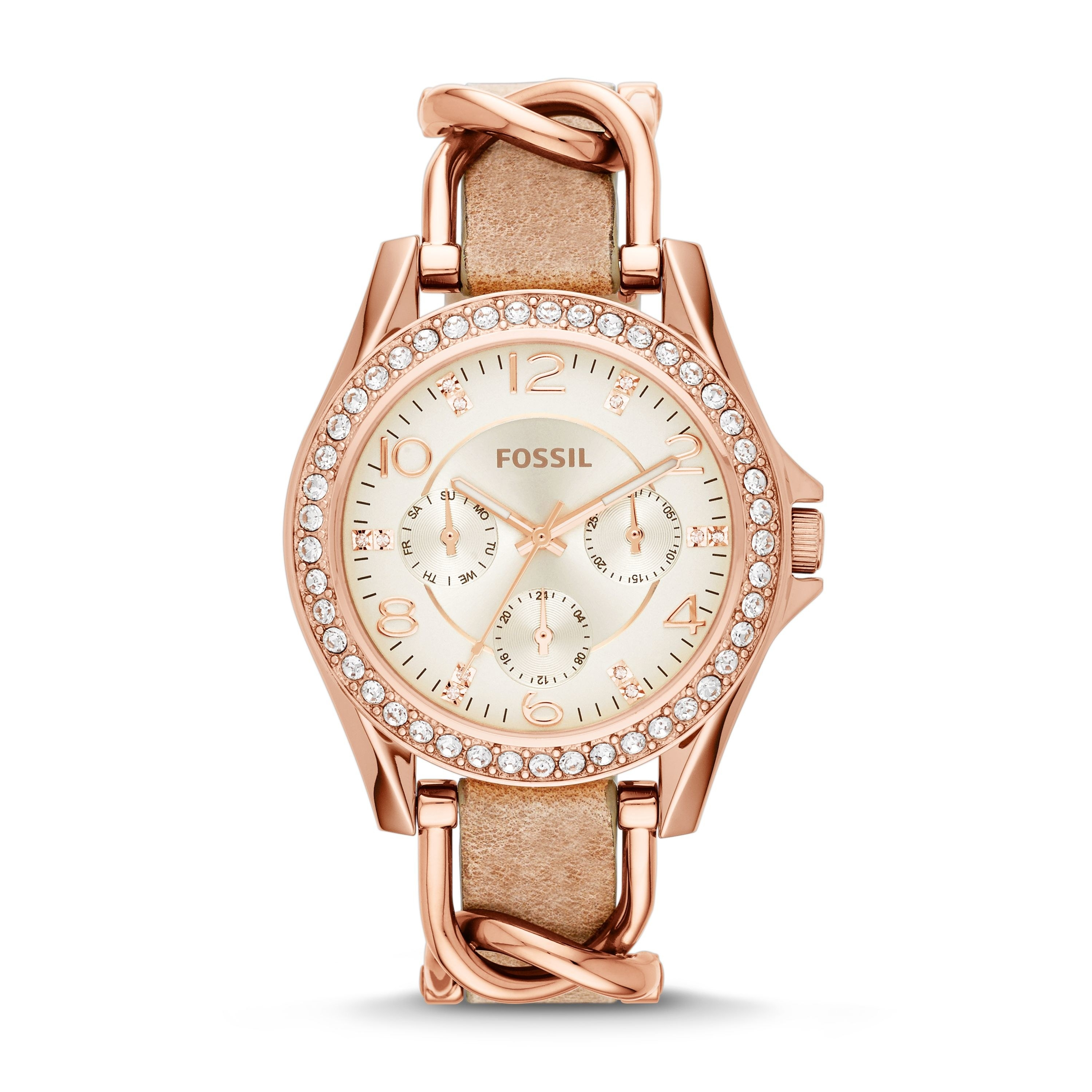 The rose gold watch