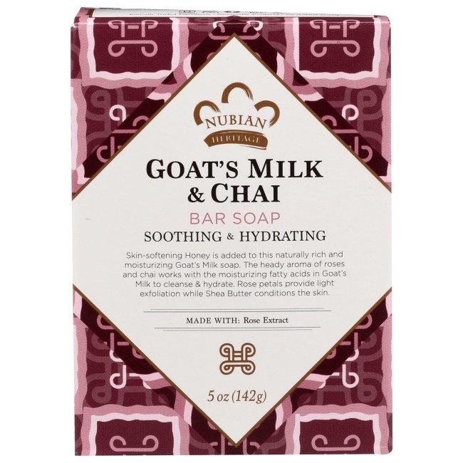 The pink bar of goat's milk soap