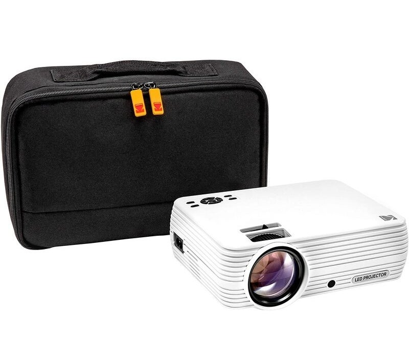 The projector and case