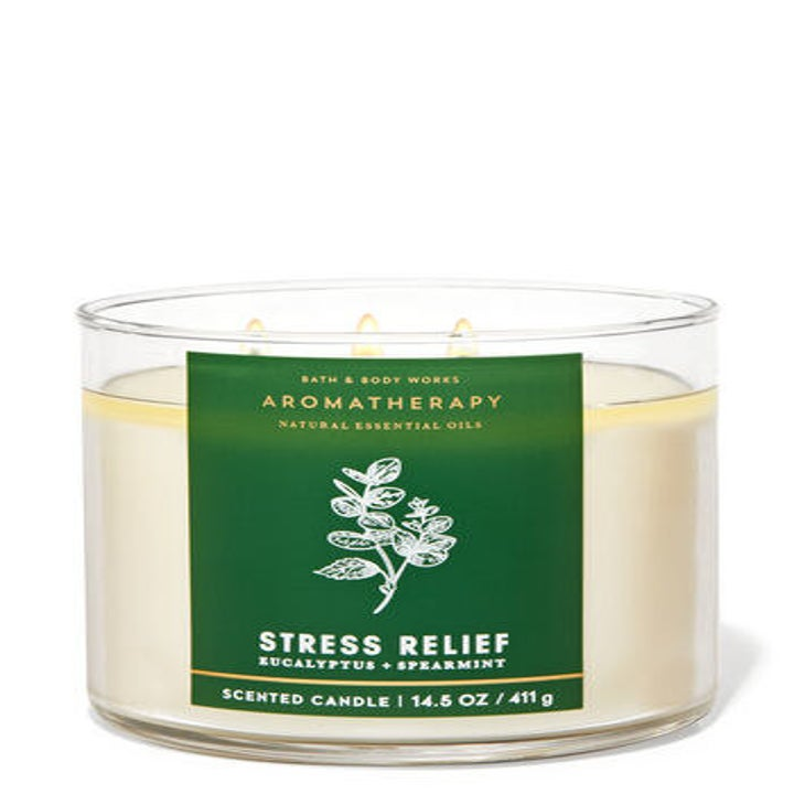 three wick eucalyptus candle