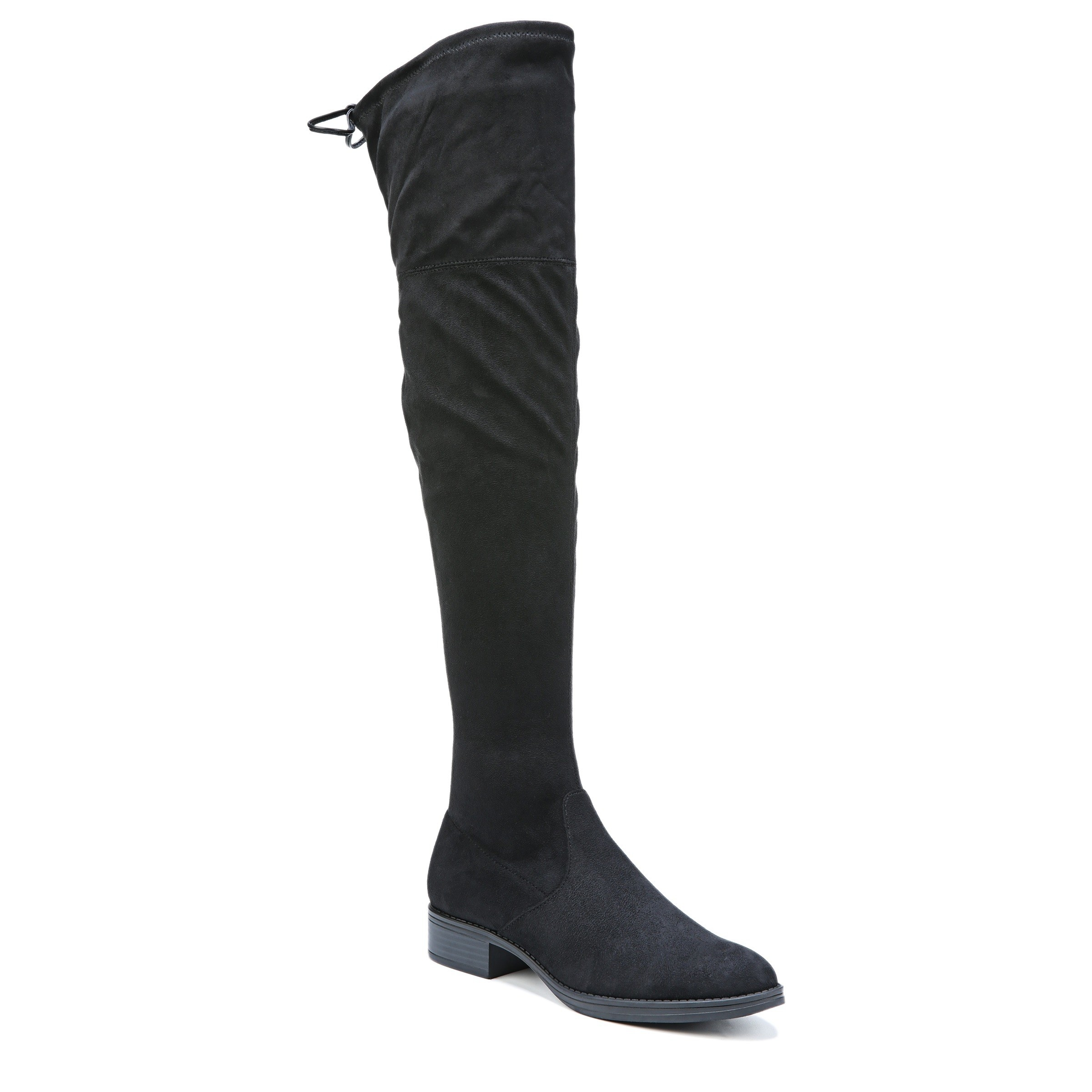 The black tall boots
