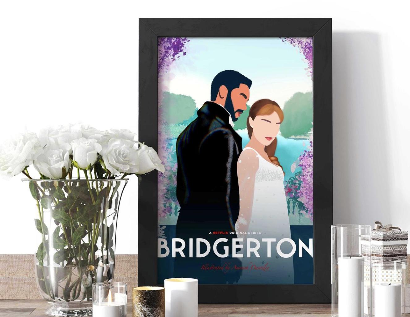 Bridgerton Art print framed