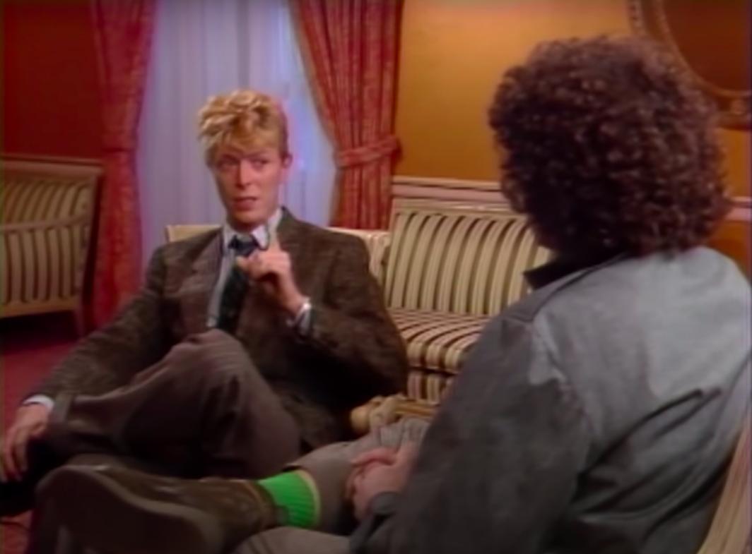 David Bowie during an MTV interview
