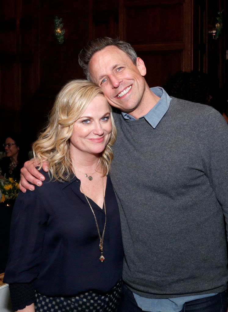 """Amy Poehler and Seth Meyers at the movie premiere for """"Wine Country"""""""