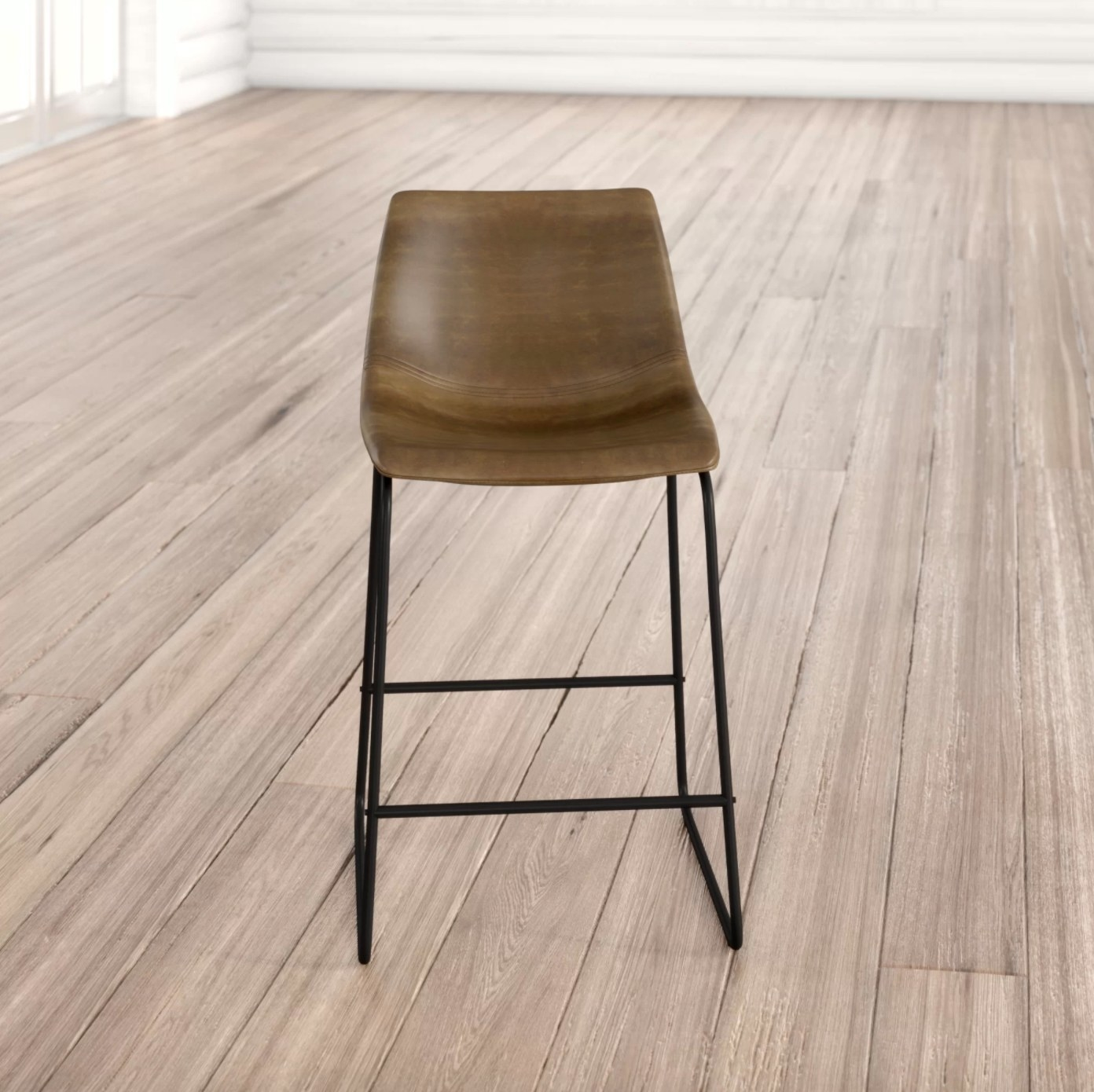 The set of bar and counter stools in brown
