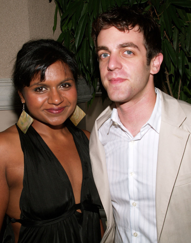 Mindy Kaling and B.J. Novak at the TCA Awards in 2006