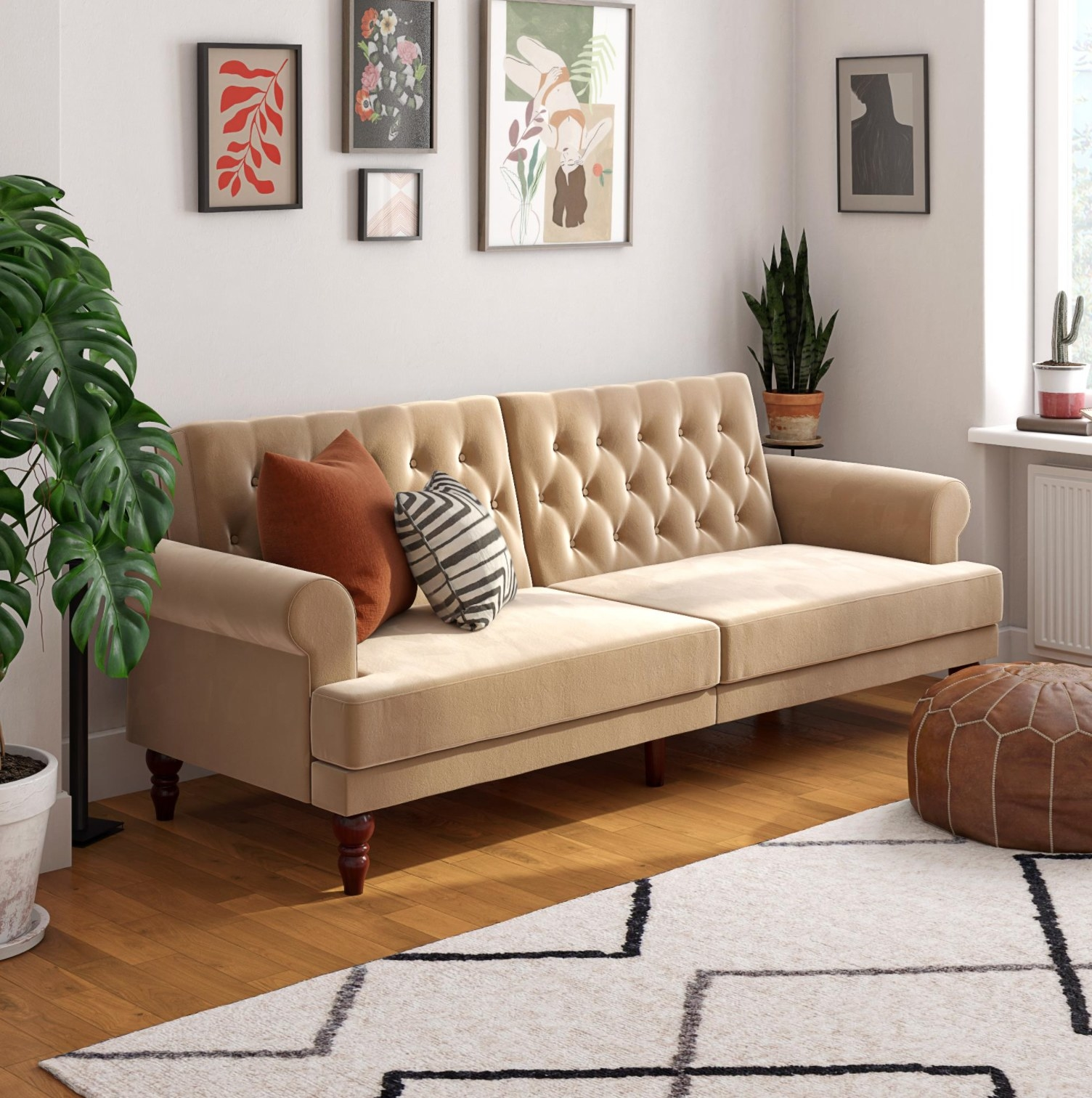 The couch in ivory