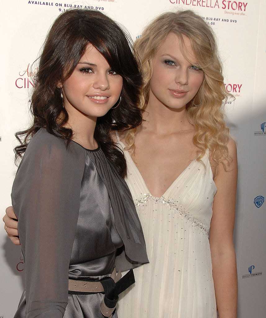 """Selena Gomez and singer Taylor Swift arrive to the premiere of """"Another Cinderella Story"""""""
