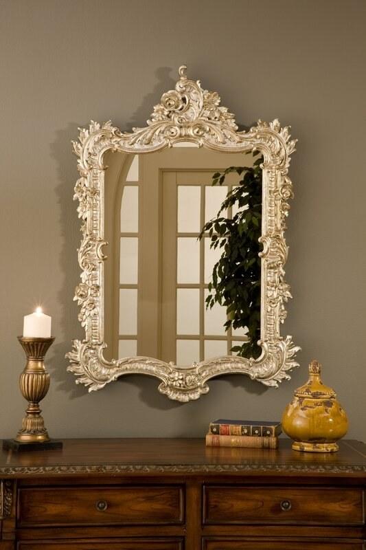 Ornate English mirror
