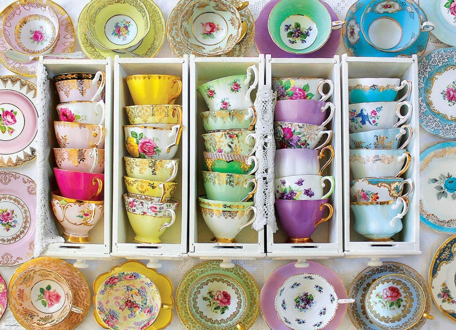 Mismatched tea cup and saucer