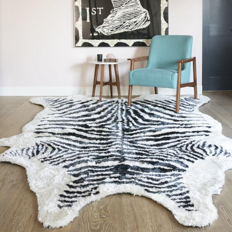 The zebra rug