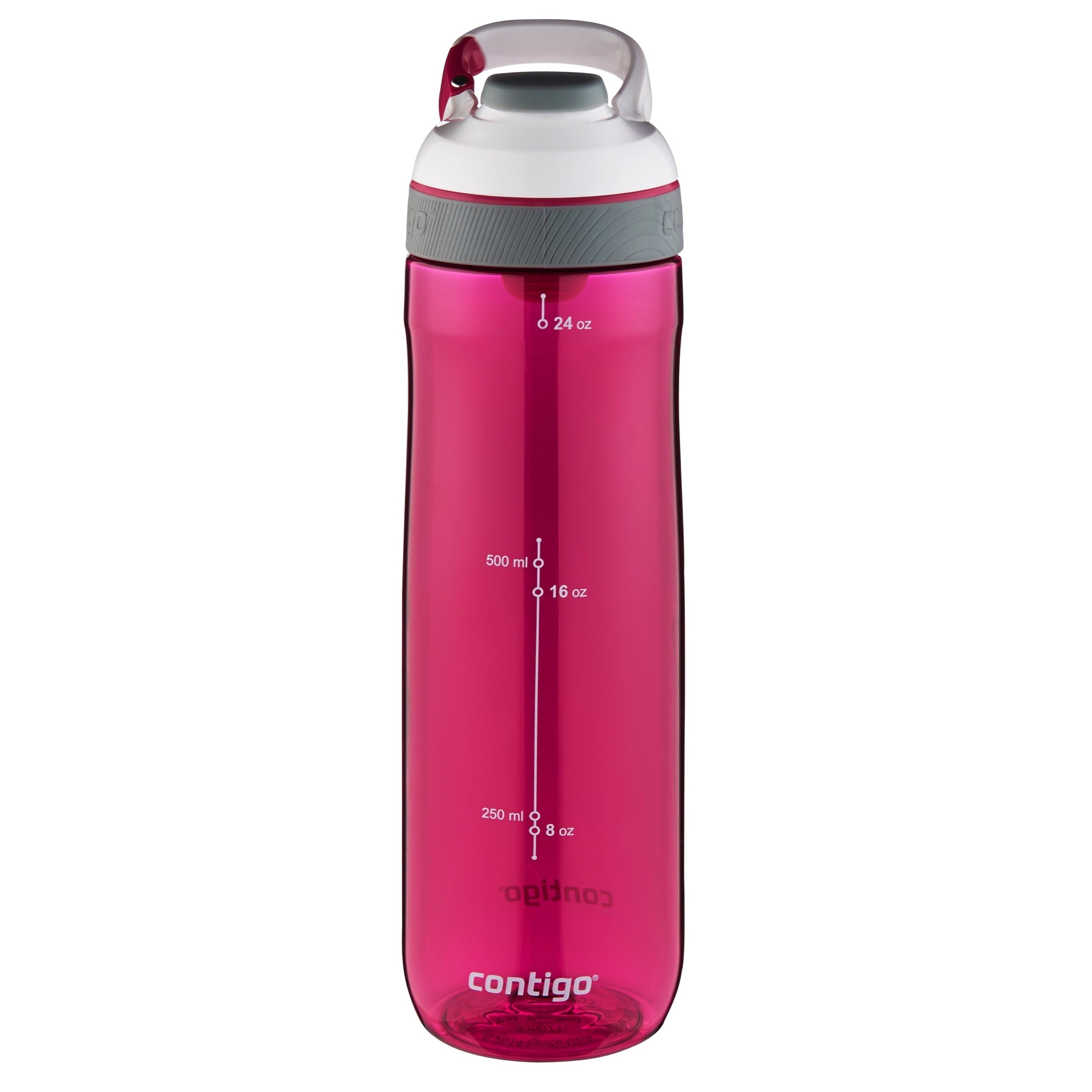 the water bottle in pink