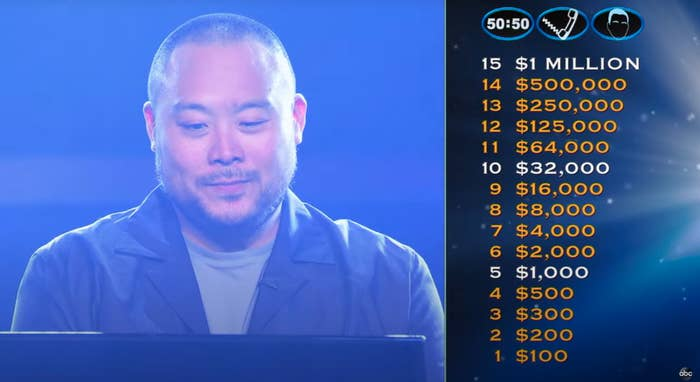 """David Chang prepares to play """"Who Wants to Be a Millionaire"""""""