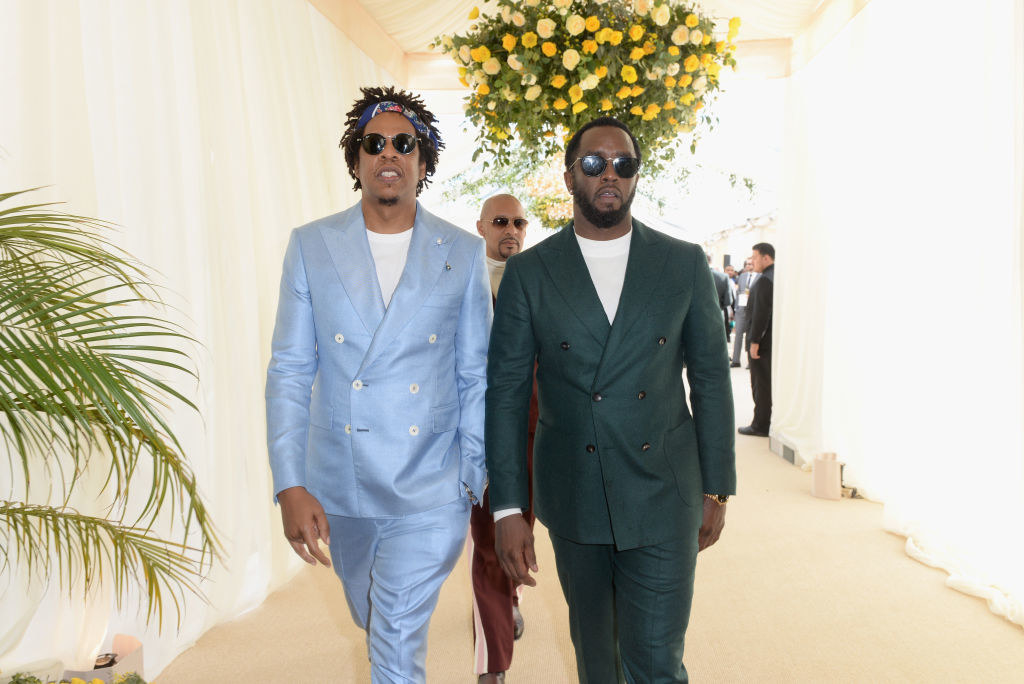 Jay-Z and Diddy attending the Roc Nation brunch in 2019