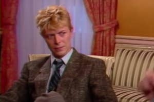 David Bowie during an MTV interview