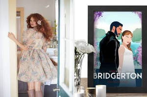 left image: selkie dress, right image: bridgerton art print