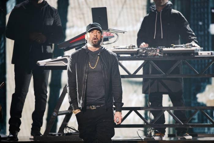 Eminem at the 92nd Oscars on Feb. 9, 2020.