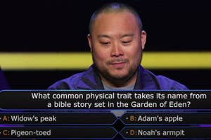 David Chang assesses a question on