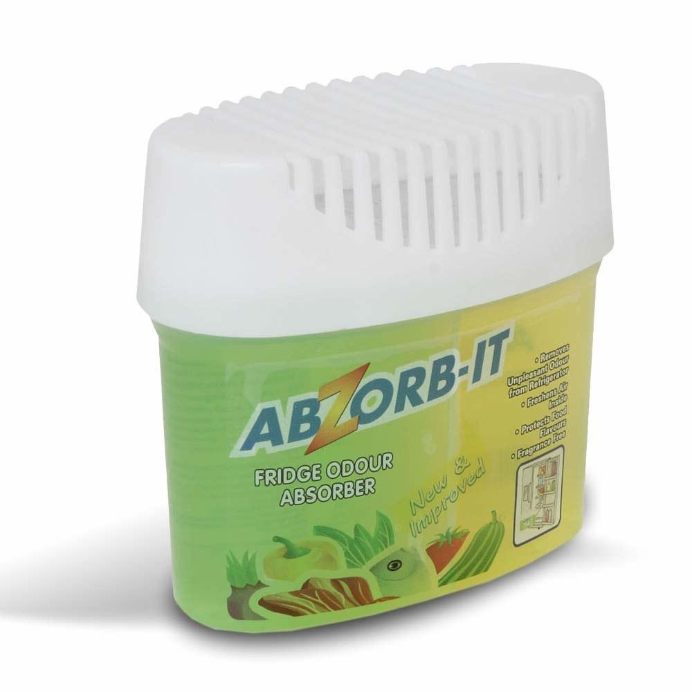 A green fridge odour absorber