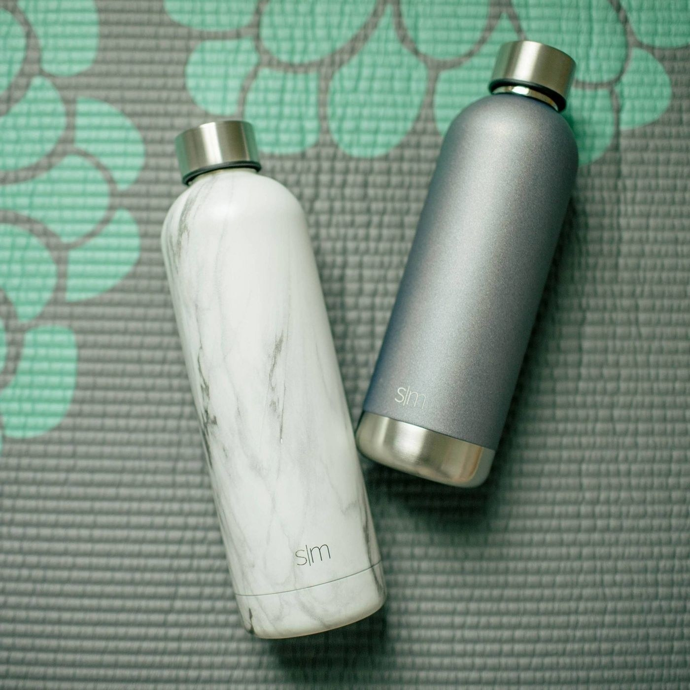 The marble water bottle